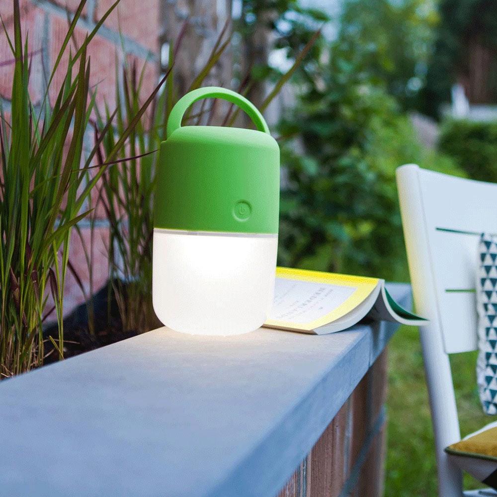 Mobile LED Solarleuchte Bump IP44 Grün 1