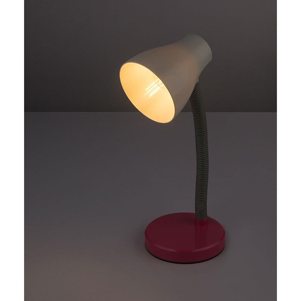 LED Tischleuchte Flynn Flexo Pink, Weiß 1