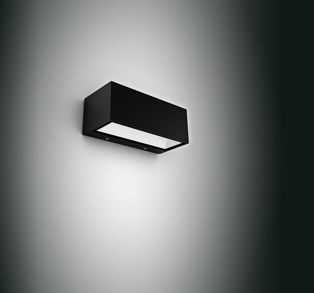 LED Außenwandlampe Gemini IP54 Anthrazit 1