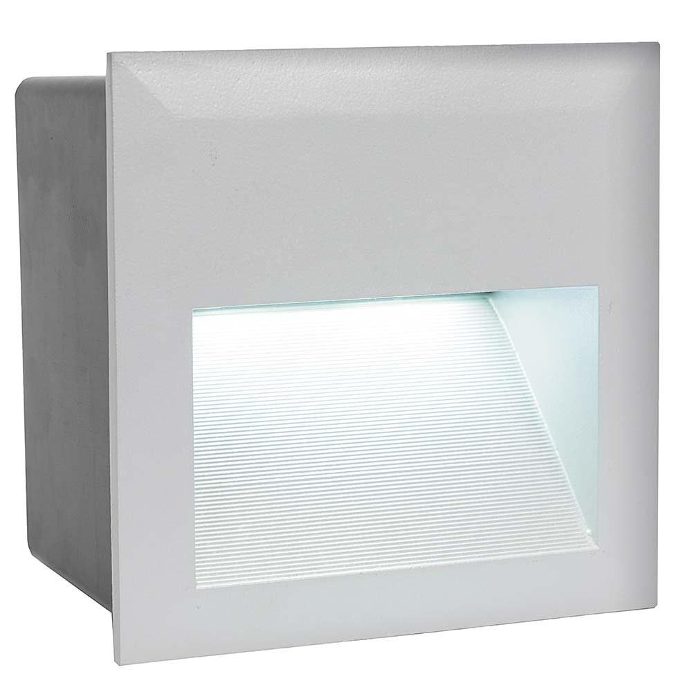Zimba LED Aussen-Wandeinbauleuchte 400lm Silberfarben 2