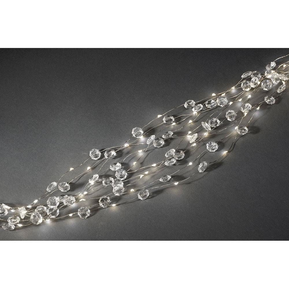 LED Diamantenlametta 24 Stränge mit 20 Dioden 480 Warmweiße Dioden