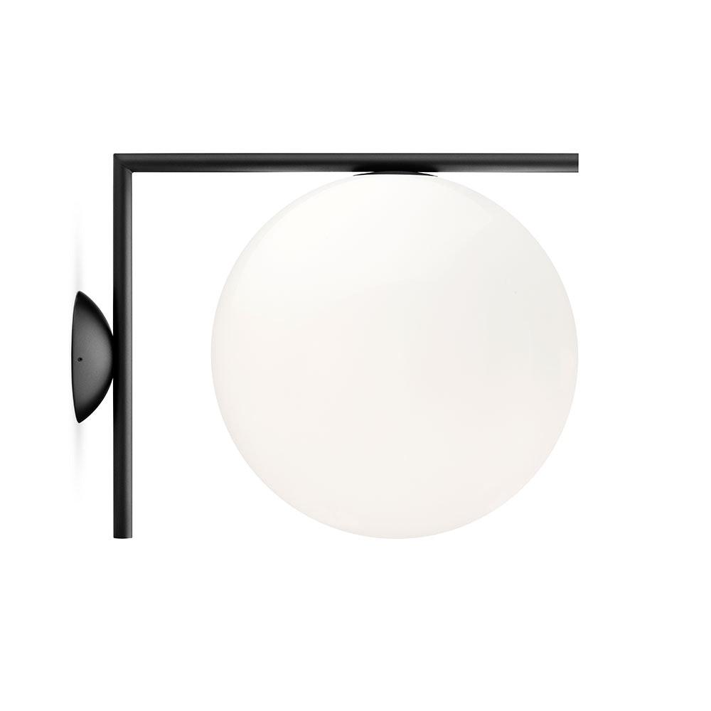 FLOS IC C/W2 Wandlampe mit Glaskugel 30cm 2