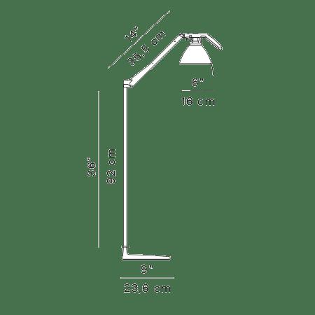 Luceplan Fortebraccio Stehlampe 92cm (Körper) thumbnail 6