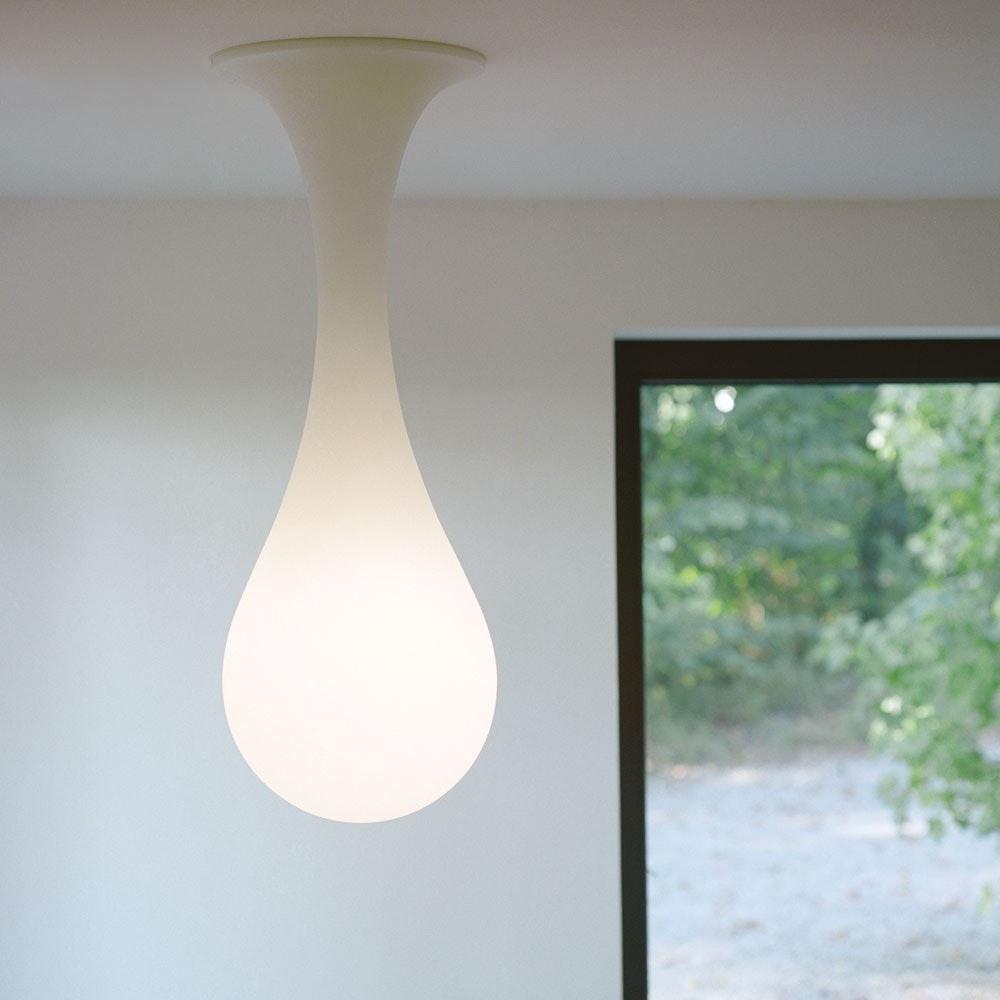 Drop_1 Deckenleuchte H: 100cm Liquid-Light Weiß