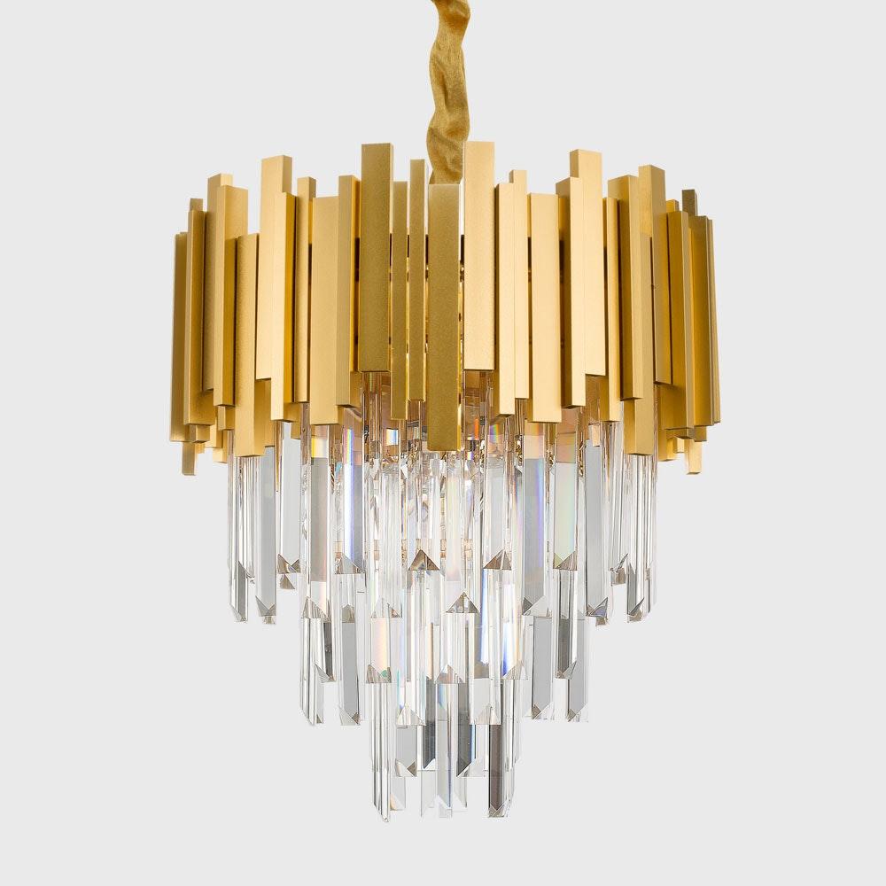 Nova Luce Grane Kristall Kronleuchter Goldfarben 3