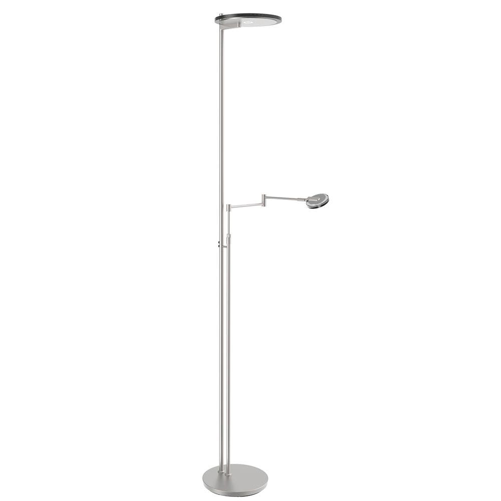 Steinhauer LED-Deckenfluter Turound LED mit Lesearm Tastdimmer 2700K 15