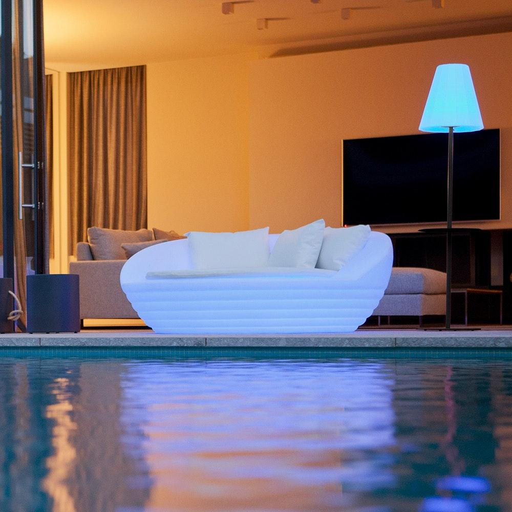 Licht-Trend LED-Solar-Sessel Formentera mit Akku und Fernbedienung