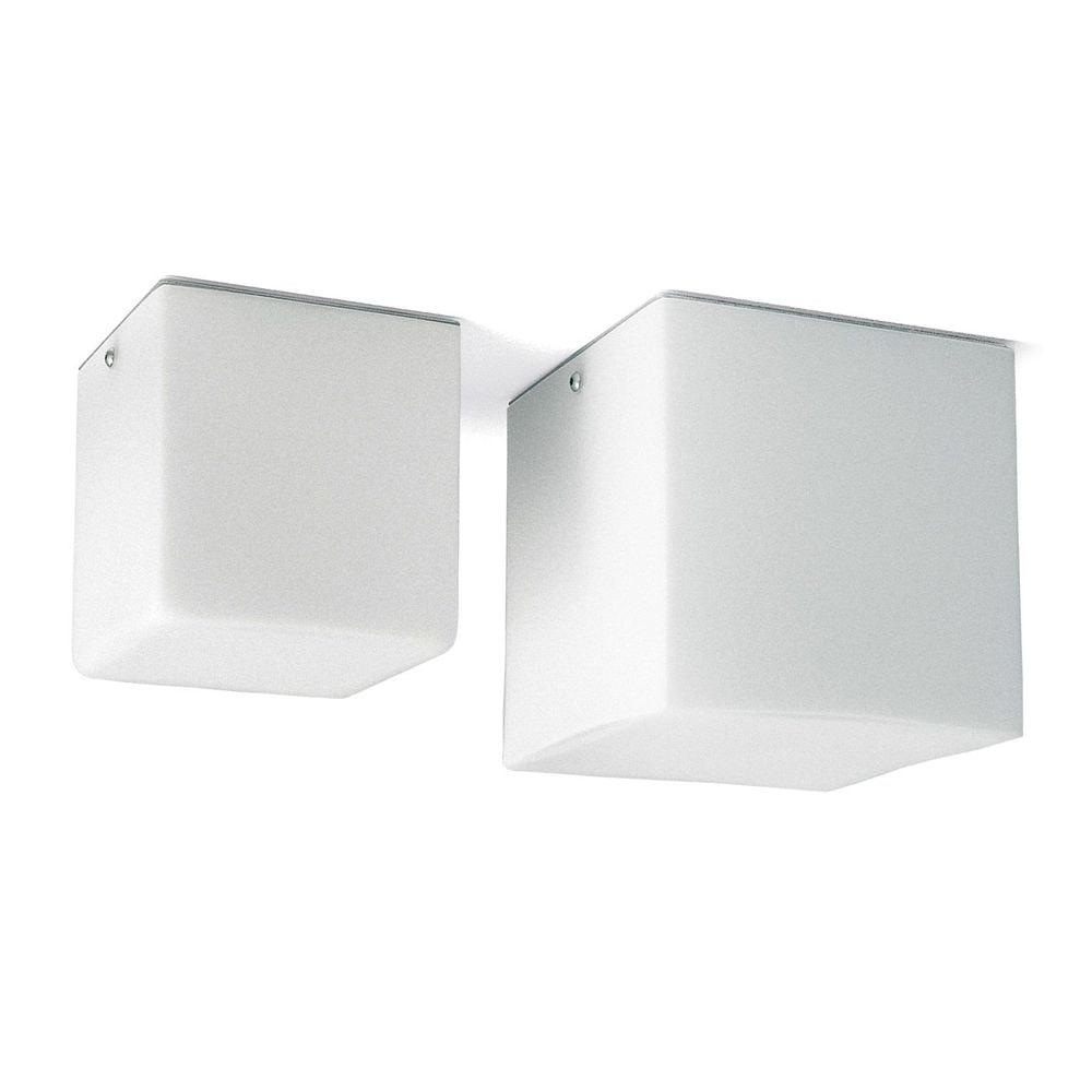 Panzeri Kubik Wand- oder Deckenlampe Glaswürfel 2