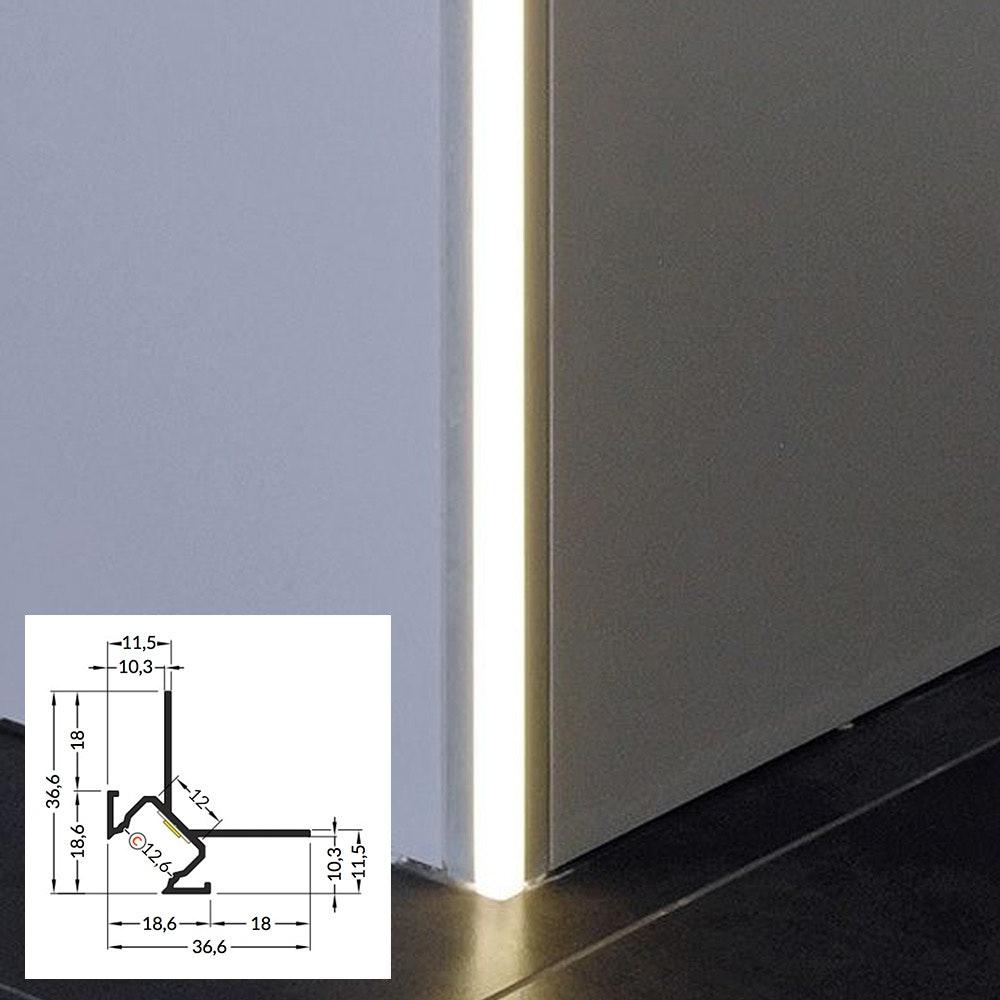 LED Aluminium Profil 2m alle Varianten  thumbnail 4