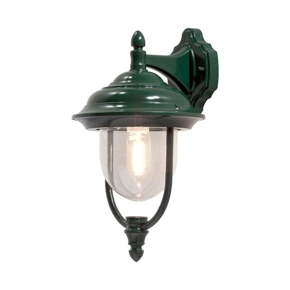 Parma Aussen-Wandleuchte Grün, klares Acrylglas