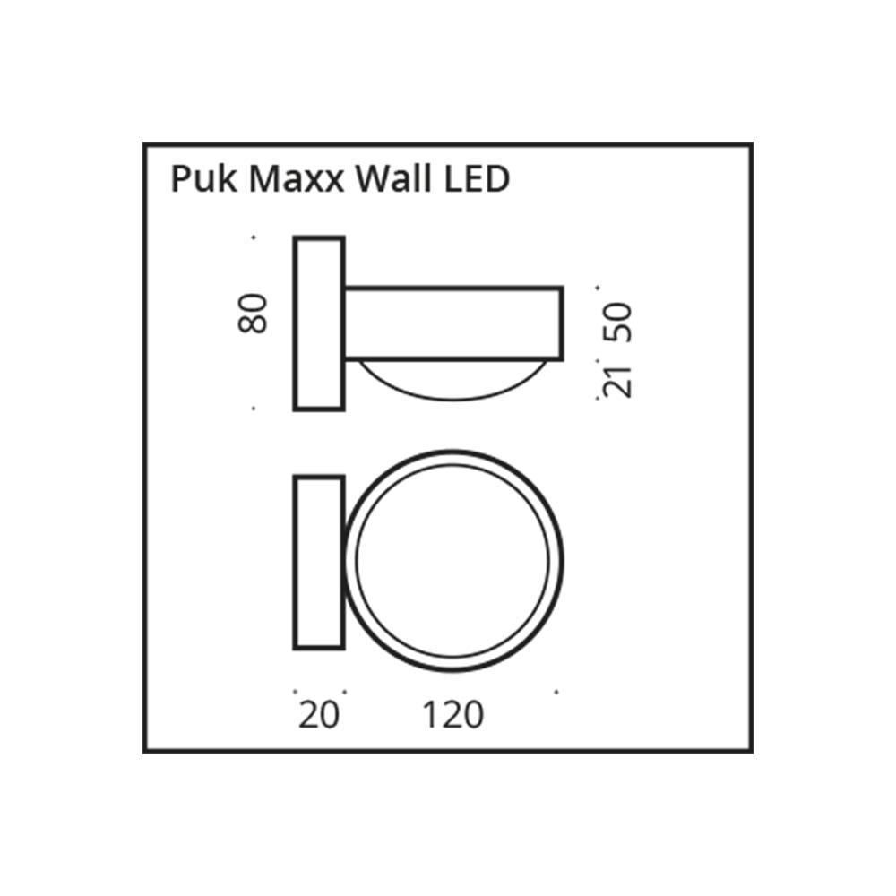 Top Light LED Wandleuchte Puk Maxx Wall Dimmbar 12