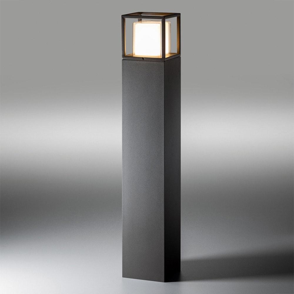Licht-Trend LED Pollerlampe Quadro T 90cm IP54 Anthrazit 1