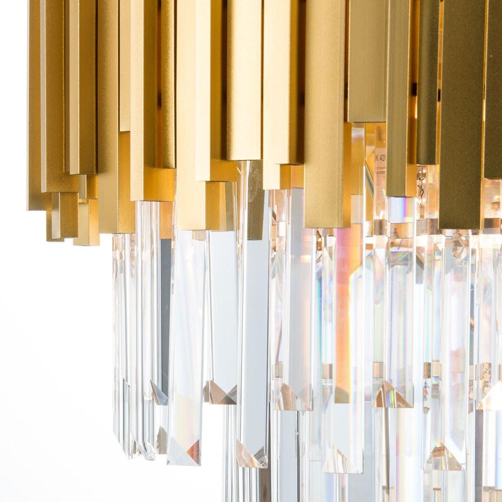 Nova Luce Grane Kristall Kronleuchter Goldfarben 4
