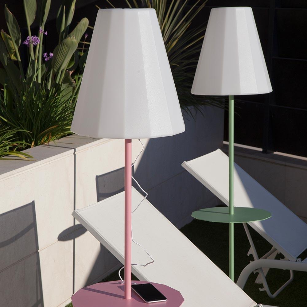 Licht-Trend LED Solar-Stehleuchte Helga mit Fernbedienung  1