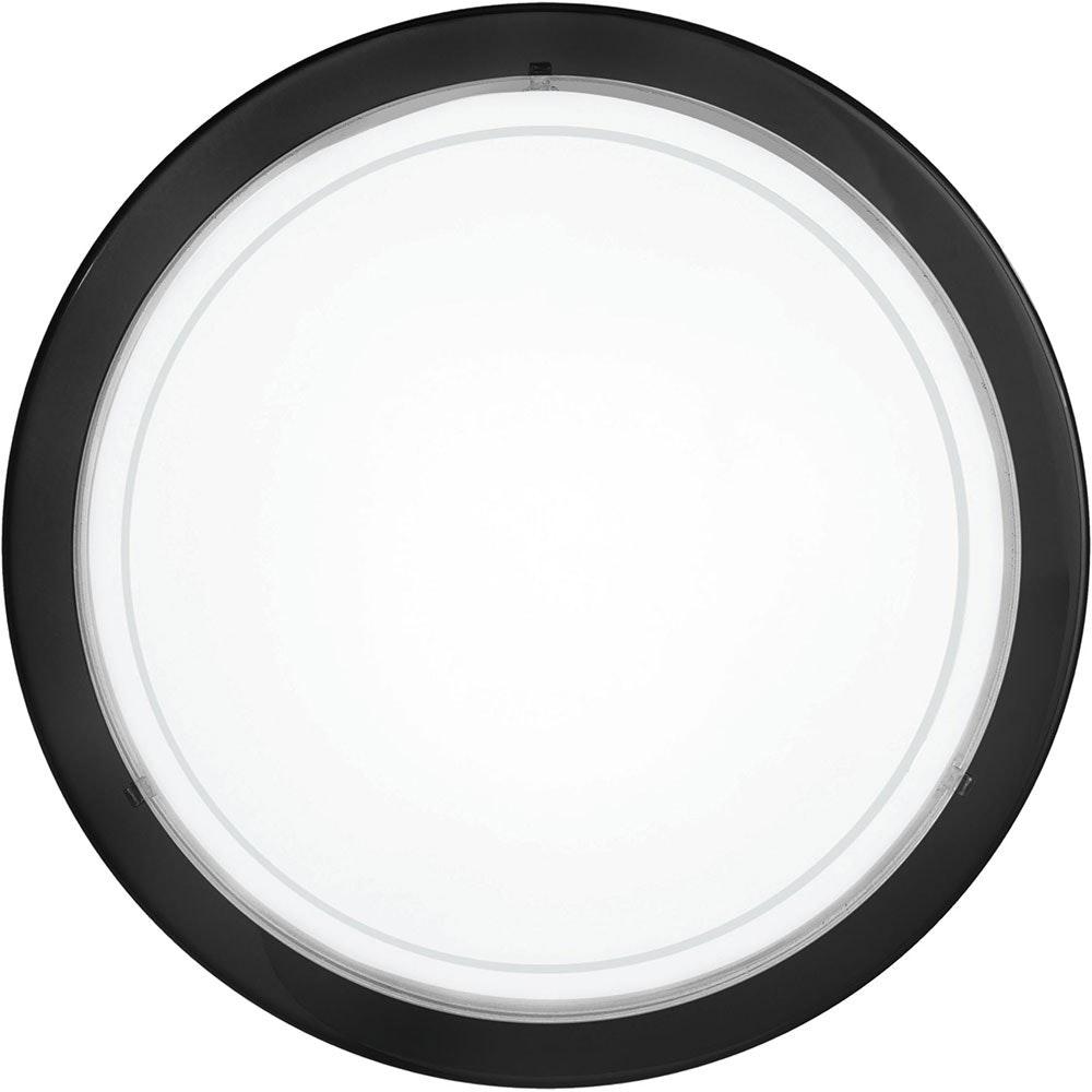 Planet 1 Wand- & Deckenleuchte Ø 29cm Weiß, Klar, Schwarz