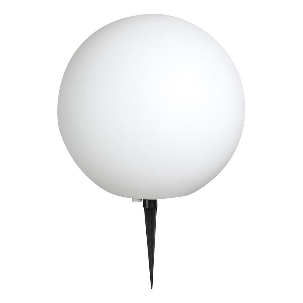 Toula Außenleuchte kugelförmig, 5 m Zuleitungskabel, mit Erdspitz Weiß 1