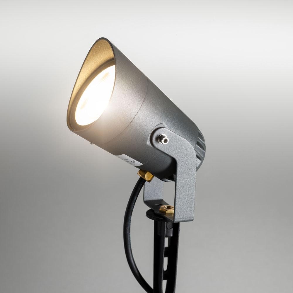 Spit LED-Außenstrahler mit Spieß 35cm 850lm Anthrazit warmweiss 230V IP54 2
