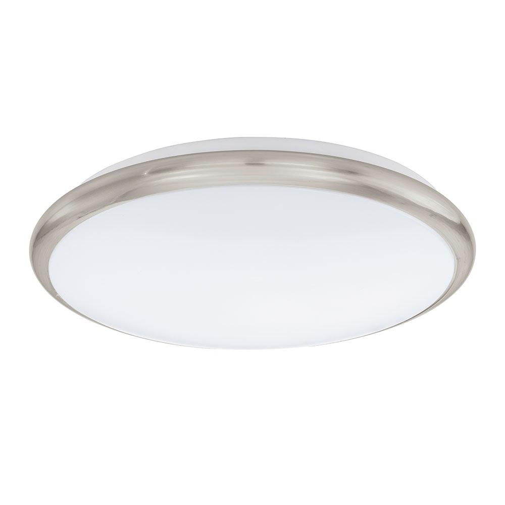 Manilva LED Wand- & Deckenleuchte Ø 30cm Weiß, Nickel-Matt