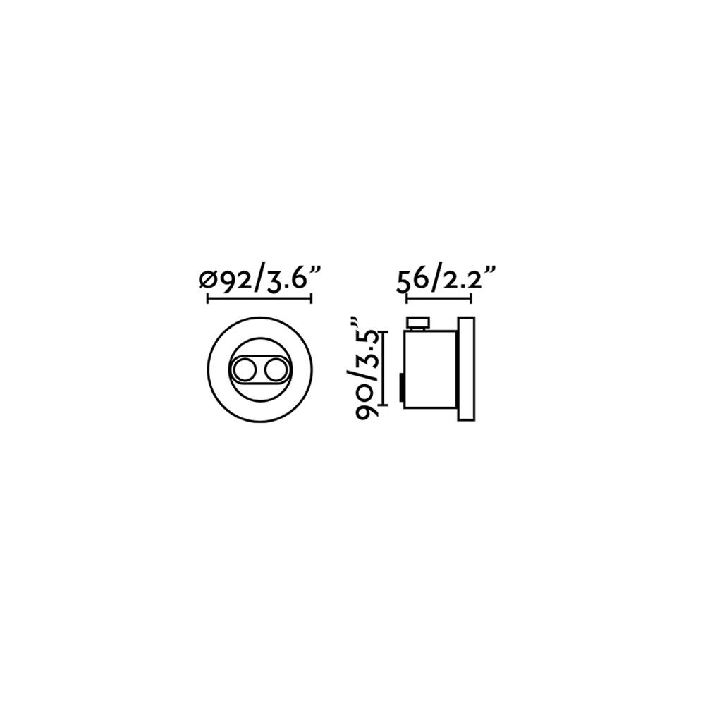 Tras Outdoor LED Einbaustrahler Verstellbar IP67 Schwarz 2