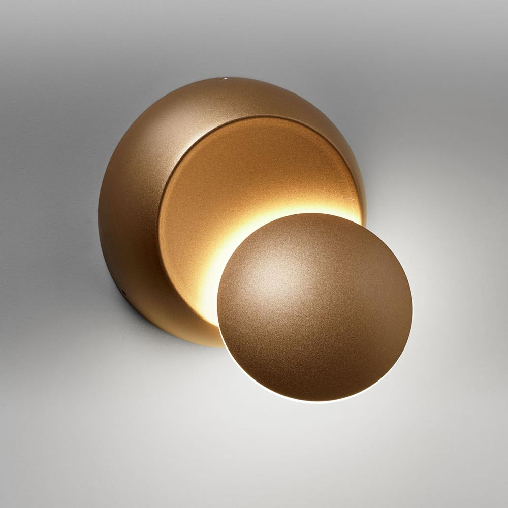 Licht-Trend drehbare LED-Wandleuchte Moon 350lm Goldfarben 1