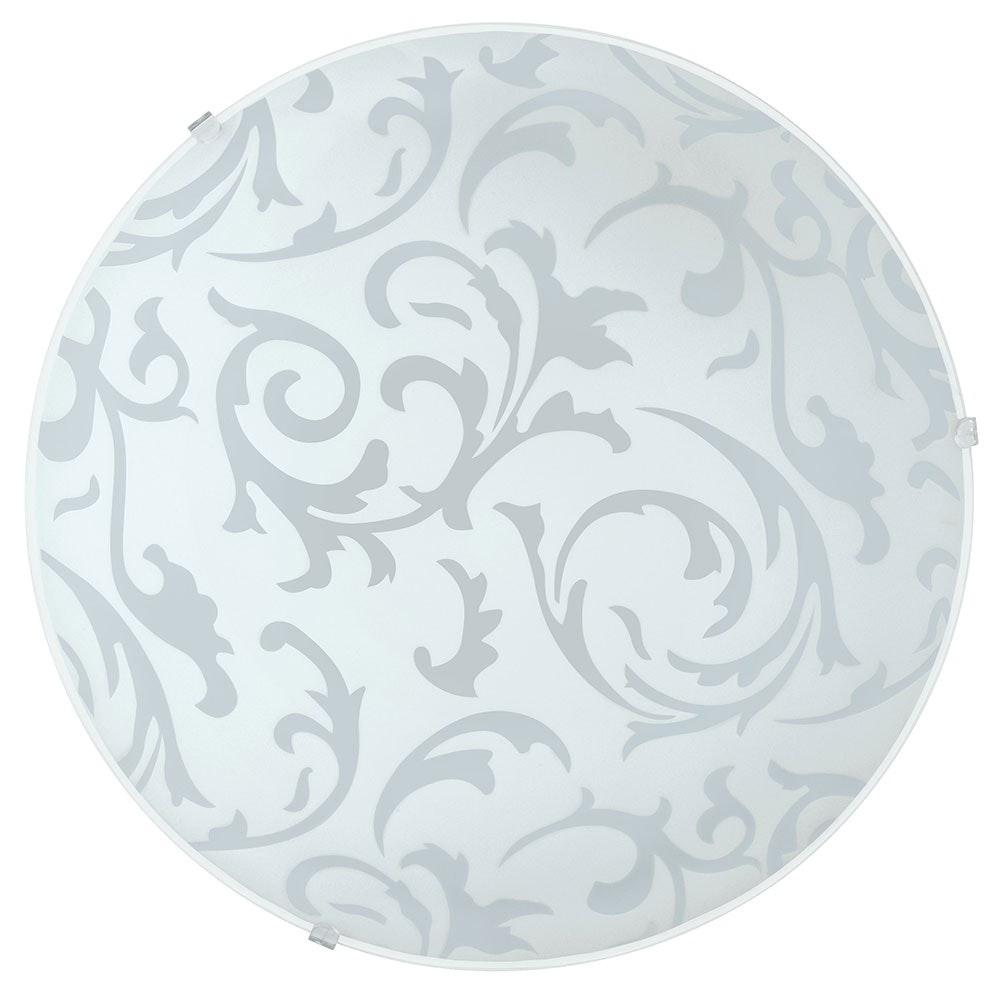 Scalea 1 Wand- & Deckenleuchte Ø 31,5cm Weiß Mit Dekor
