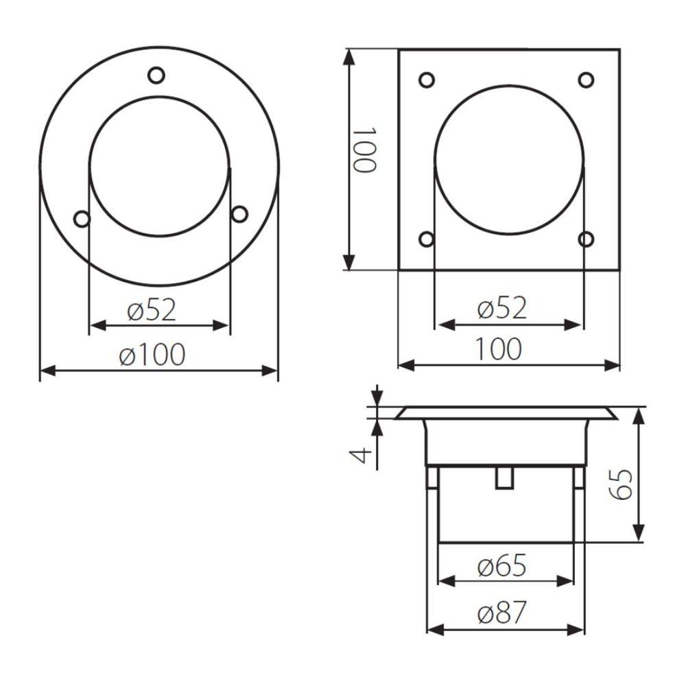 LED-Einbauleuchte Gordo IP66 rund 10cm Edelstahl 2