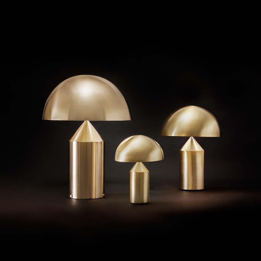Oluce elegante Tischlampe Atollo 35 Goldfarben 2