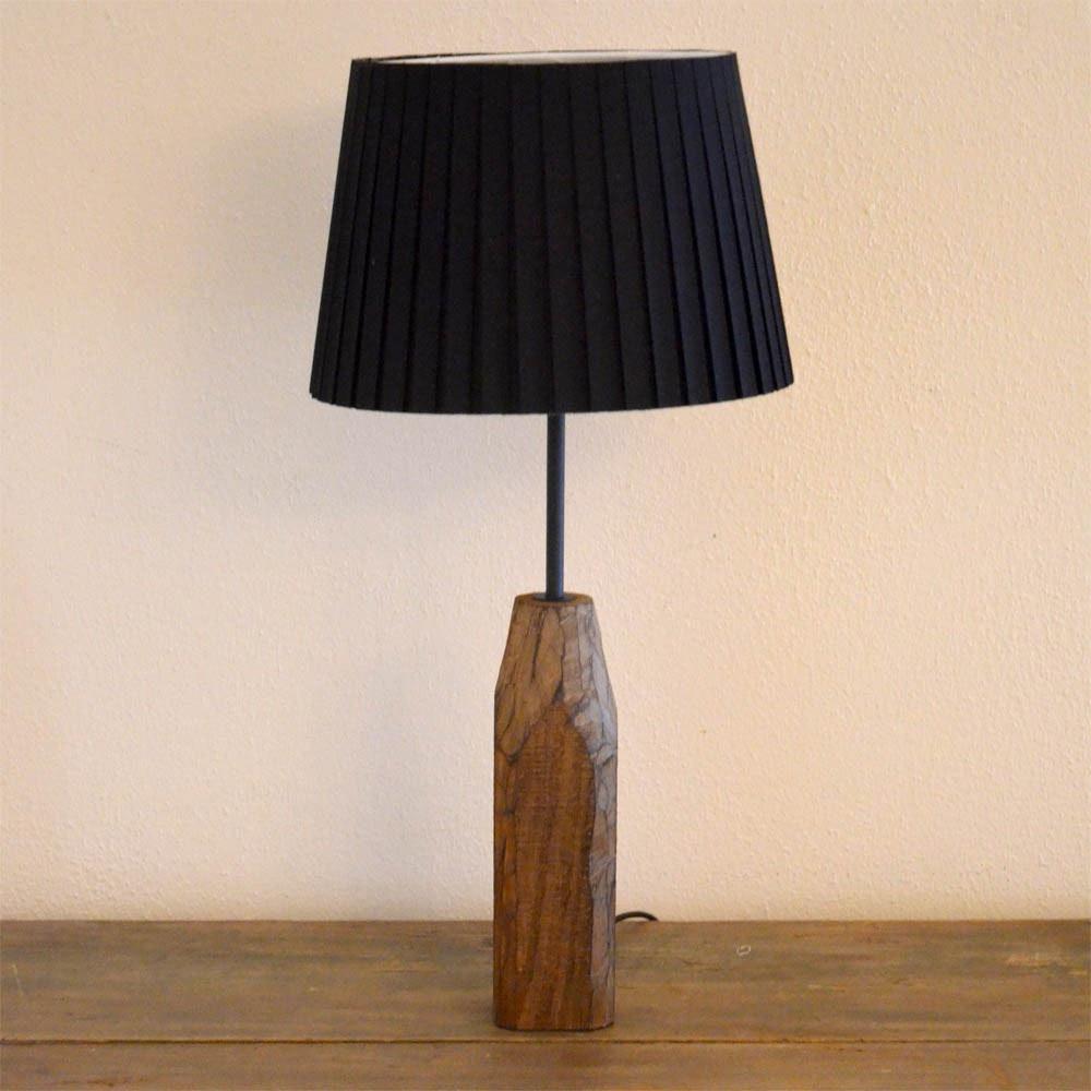 Forest Retro Holz-Tischleuchte mit Vintage Look 1