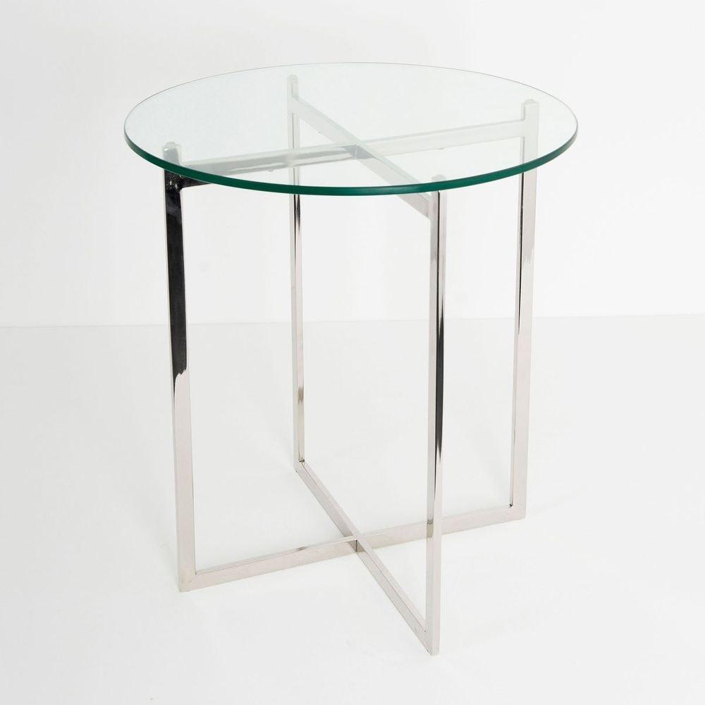 Tisch Favorito Edelstahl-Glas Silber-Klar 1