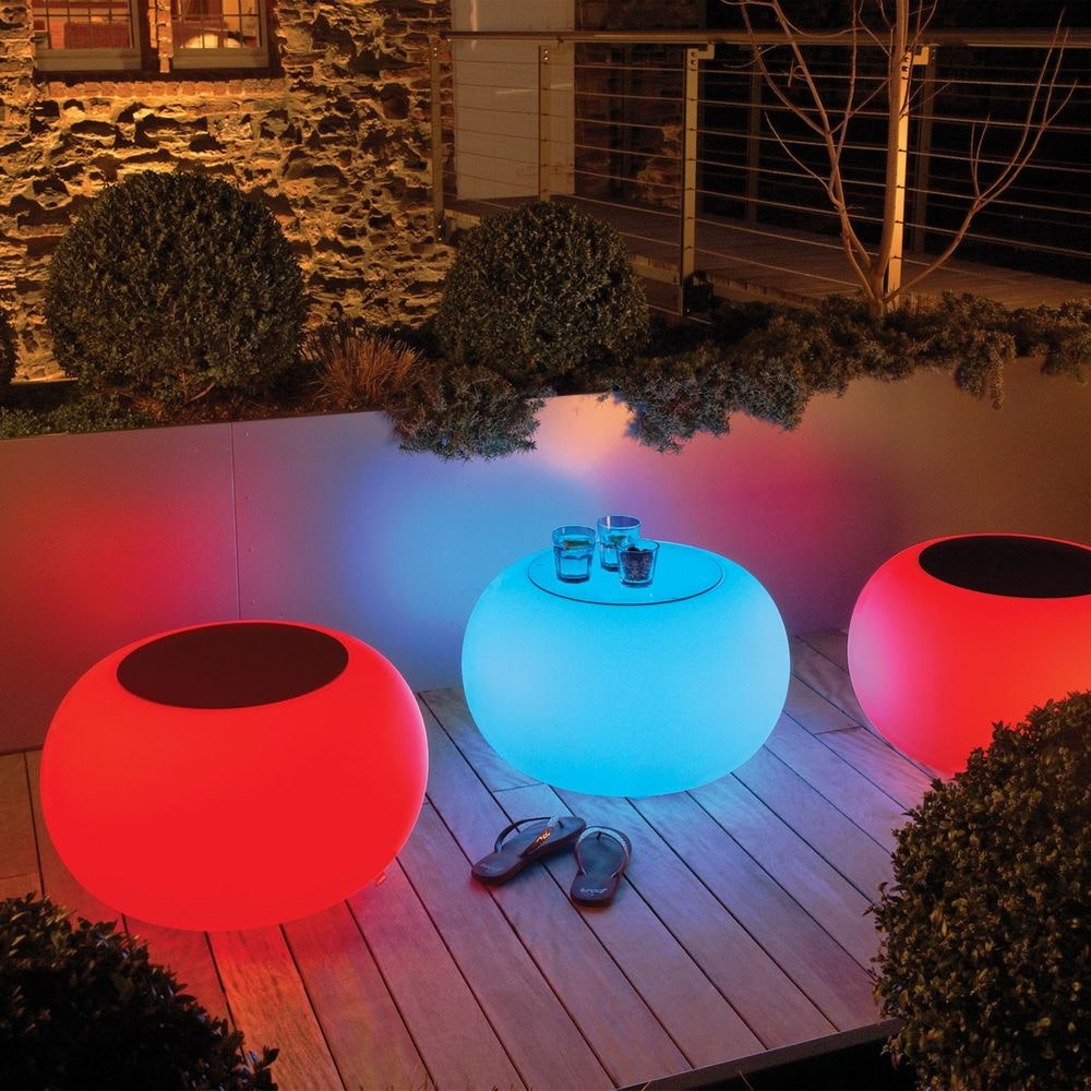 Moree Outdoor LED Tisch oder Hocker Bubble 2