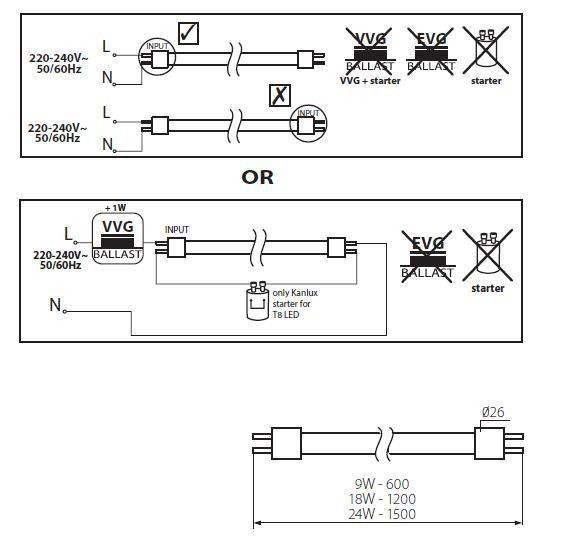 High Power LED-Röhre aus Glas 9W 60cm Neutralweiß 2