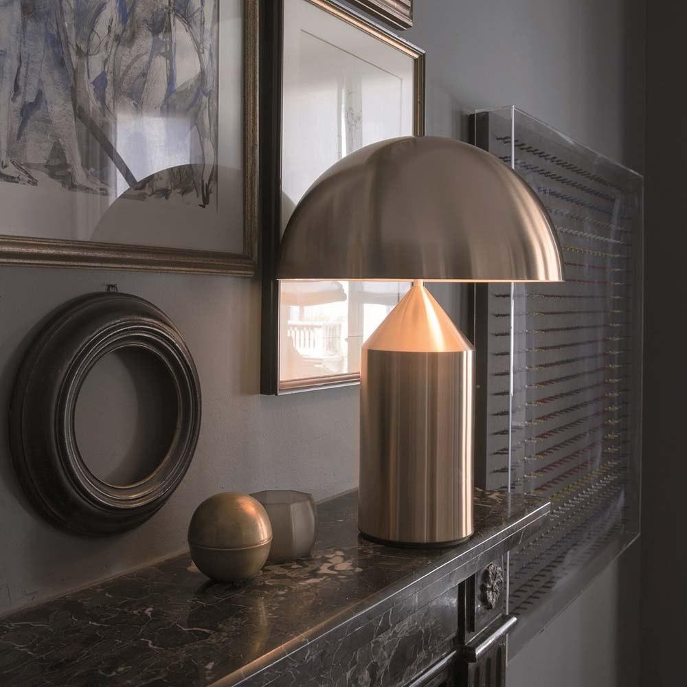 Oluce elegante Tischlampe Atollo 35 Goldfarben