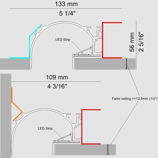 Panzeri Manhattan Montagezubehör für Einbauprofil thumbnail 5