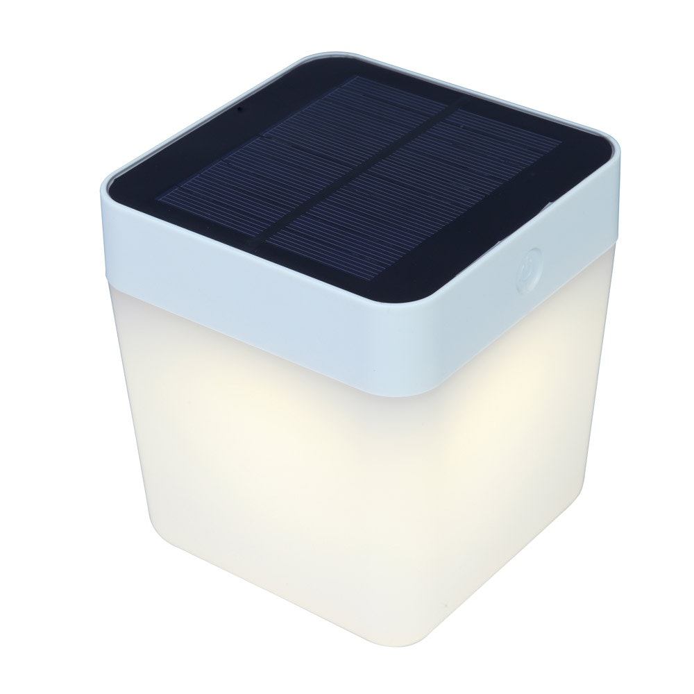 Dimmbare Solar-Tischlampe IP44 Silber thumbnail 3