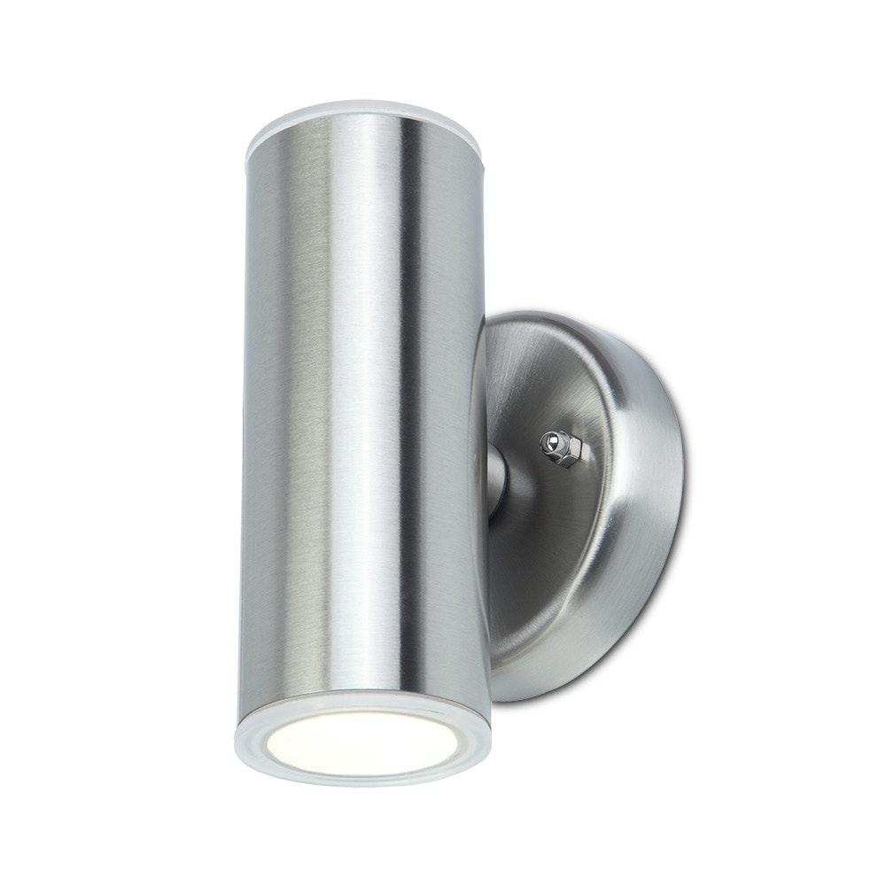 LED Außenwandlampe Luca IP44 Edelstahl 2