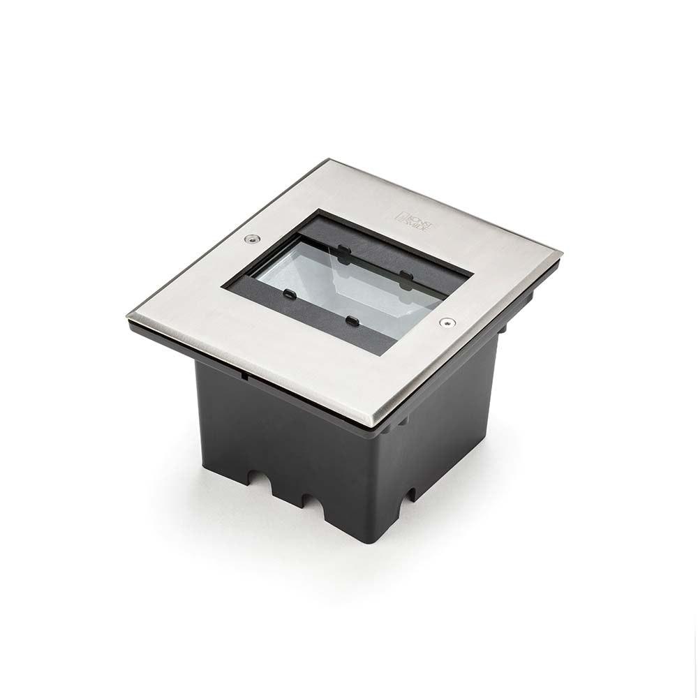 High Power LED Bodeneinbaustrahler 1100lm mit verstellbarem Lichtaustritt Edelstahl 1