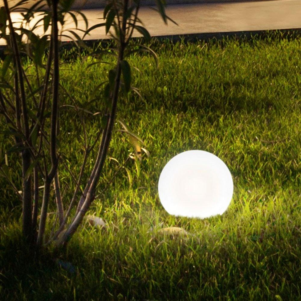s.LUCE pro Globe+ langlebige Garten Aussenkugel Weiß 4