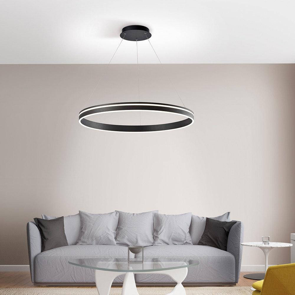 LED Hängeleuchte Q-Vito Ø 79cm CCT Anthrazit 1
