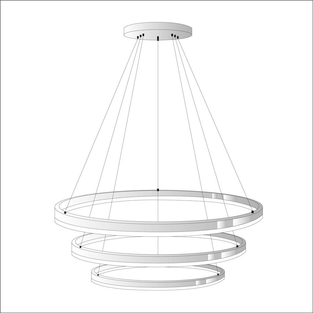 s.LUCE Ring Umbau zentrisch / exzentrisch (ohne LED-Ringe) 14