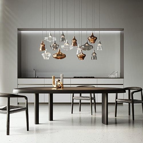Studio Italia Design Nostalgia Glass Medium 20cm LED Hängeleuchte thumbnail 4