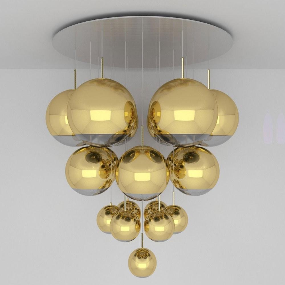 Tom Dixon Mirror Ball Mega 19-flammige Riesenleuchte thumbnail 6
