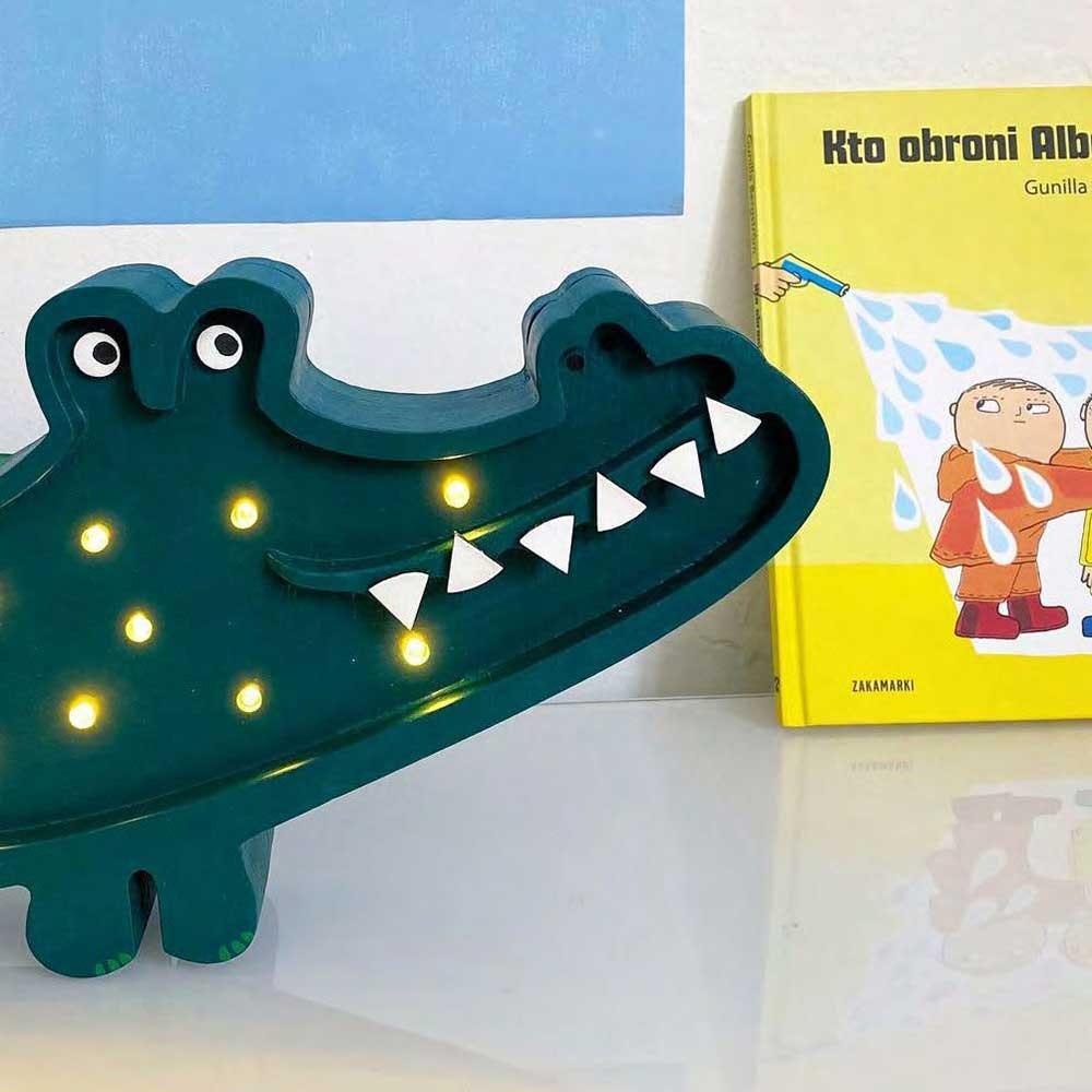 Little Lights Kinder Wand- & Tischleuchte Krokodil  3