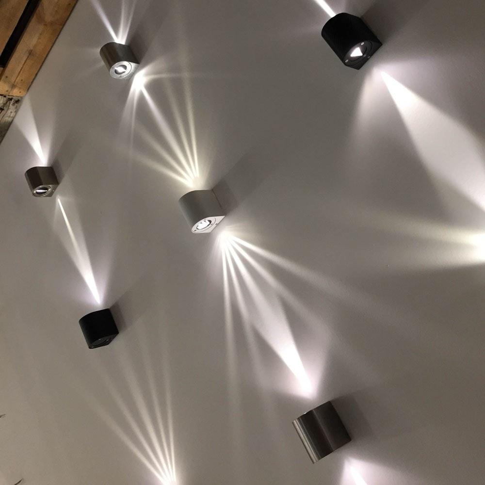 Baleno Aussen LED-Wandlampe + Lichtfilter Grau thumbnail 6