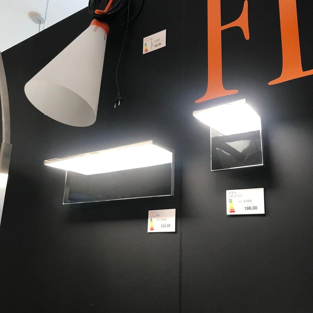 FLOS Hide L LED-Wandleuchte 40 x 12cm Chrom 2