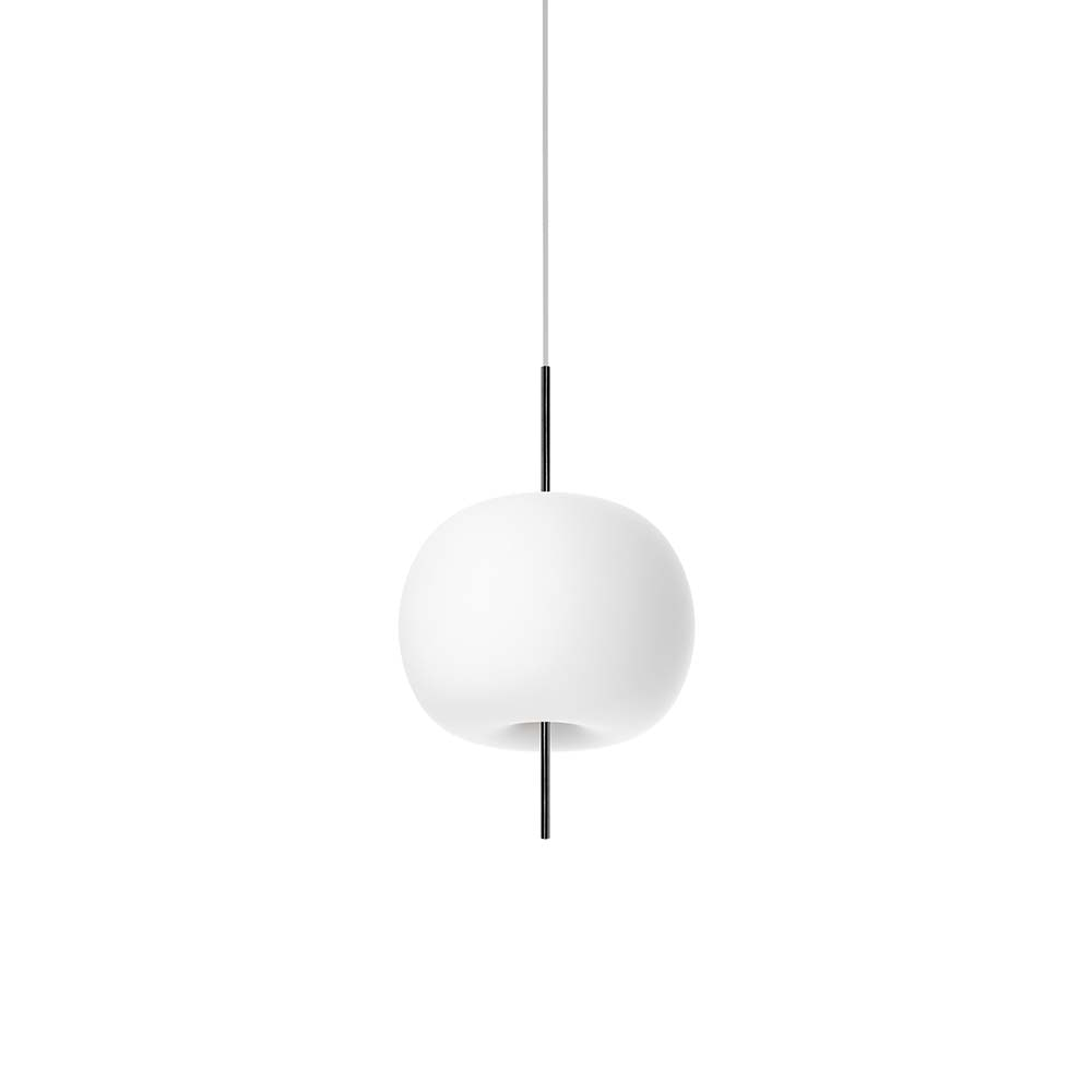 Kundalini Opalglas LED Pendelleuchte Kushi Ø 16cm 1