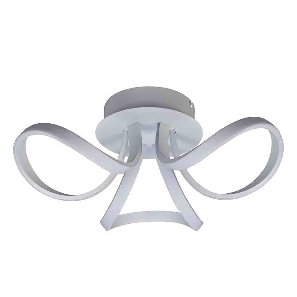 Mantra Knot LED-Deckenlampe Weiß Dimmbar 1
