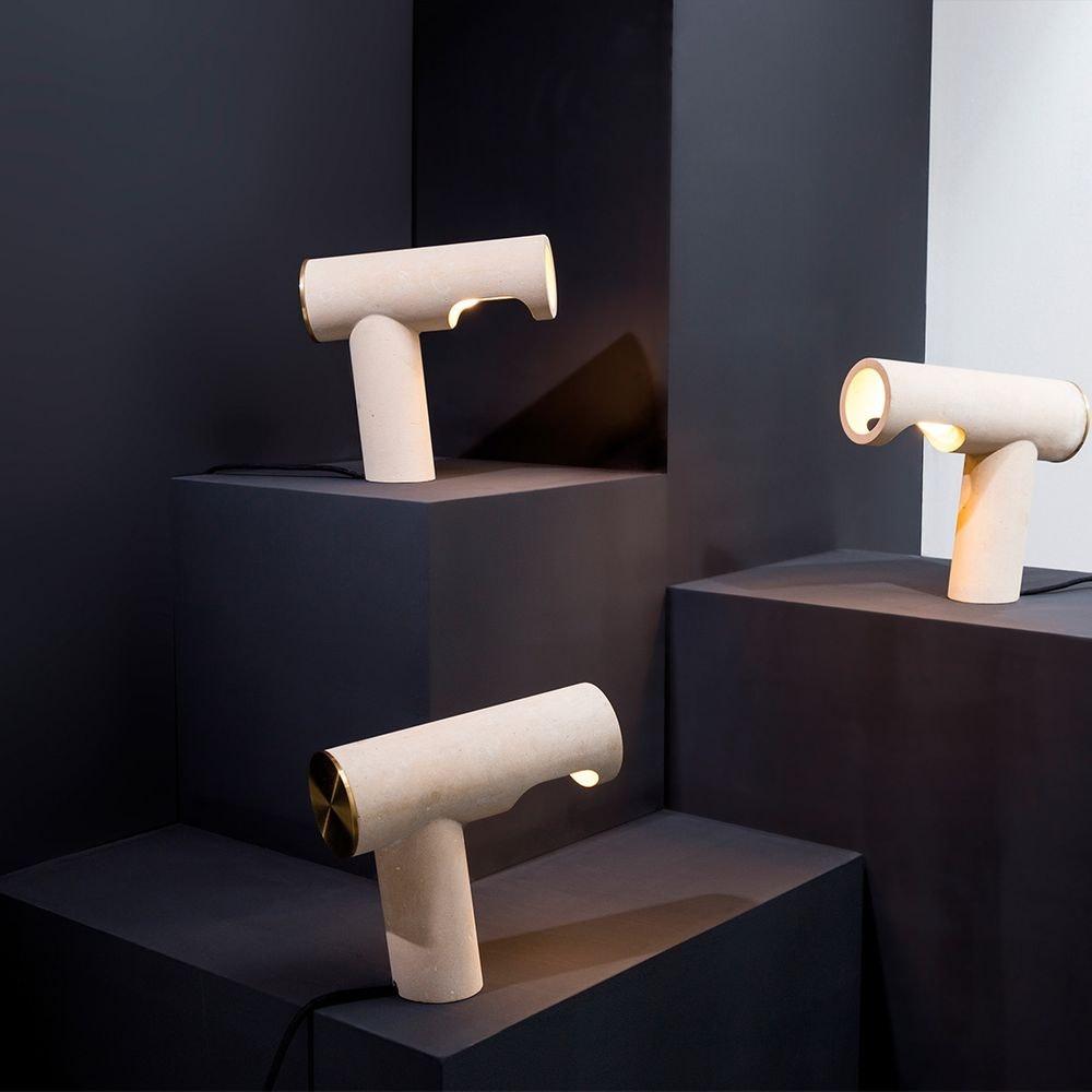 Pulpo LED Tischlampe Simple Light aus Kalkstein thumbnail 3