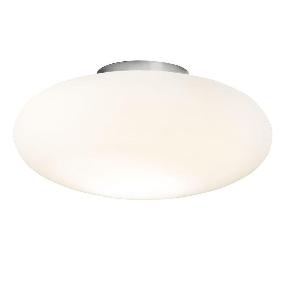 LED-Deckenleuchte 42cm Nickel-matt