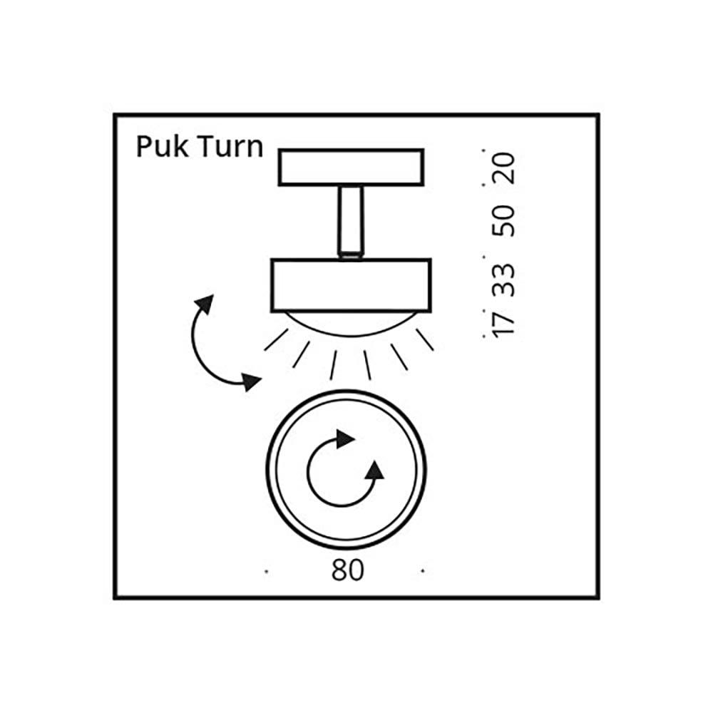 Top Light LED Deckenstrahler Puk Turn Downlight thumbnail 3