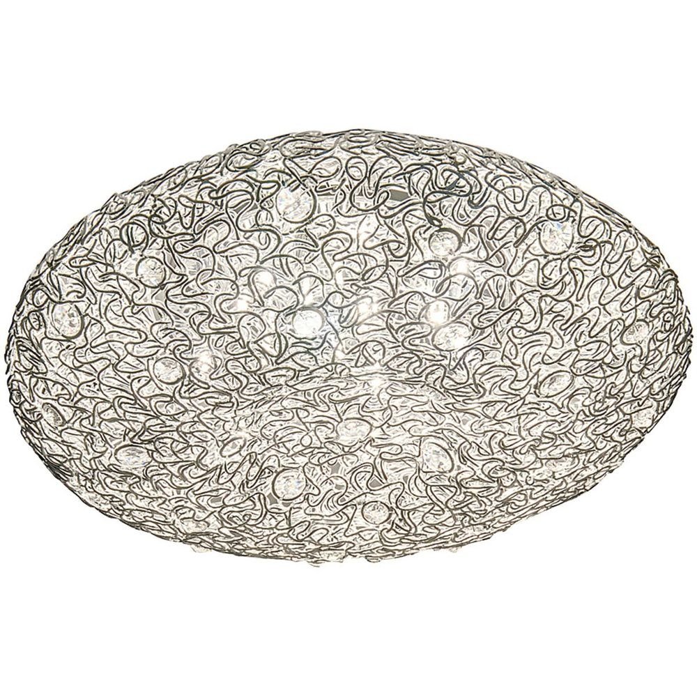 Deckenleuchte 10-flammig Rifugio Aluminium-Metall verchromt Silber 3